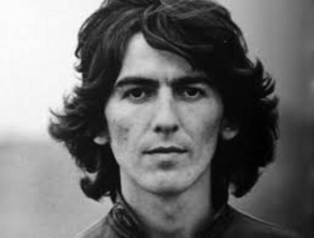 Fallece George Harrison miembro de los Beatles.