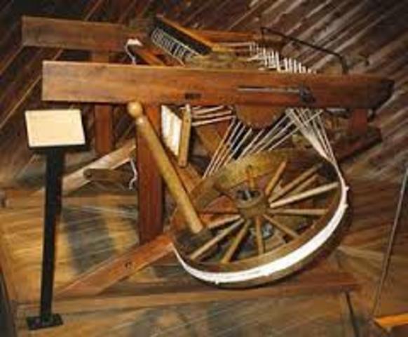 Invención de la maquina de hilar y tejer hidráulica favoreciendo a la industria textil