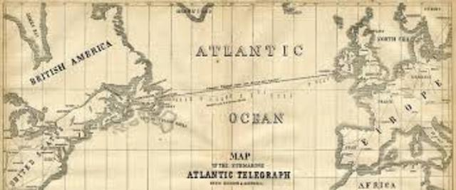 Se tendió el primer cable submarino