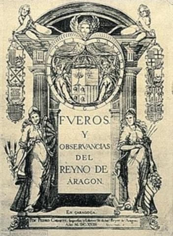 Decreto de abolición de los fueros aragoneses y valencianos