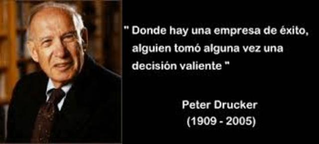 Peter Drucker. Administración Moderna.