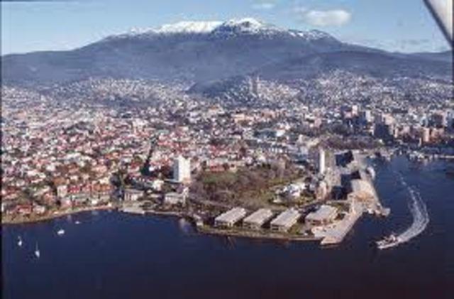 Hobart is Established