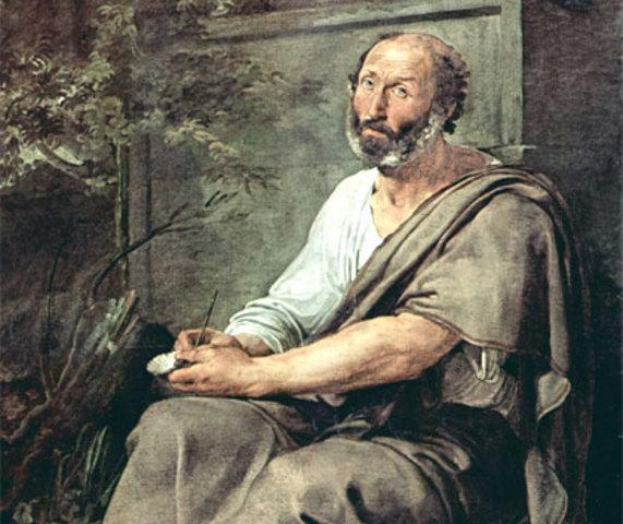 El filosofo griego  Hipocrates y Aristoteles