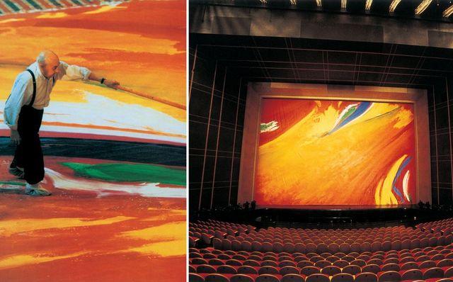 Olivier Debré - Rideau de scène de l'Opéra de Shangai