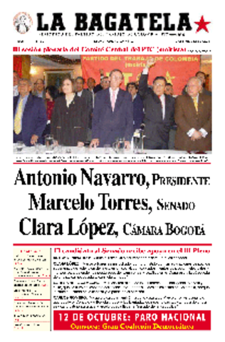 """Primer periodico politico """"La Bagatela"""""""