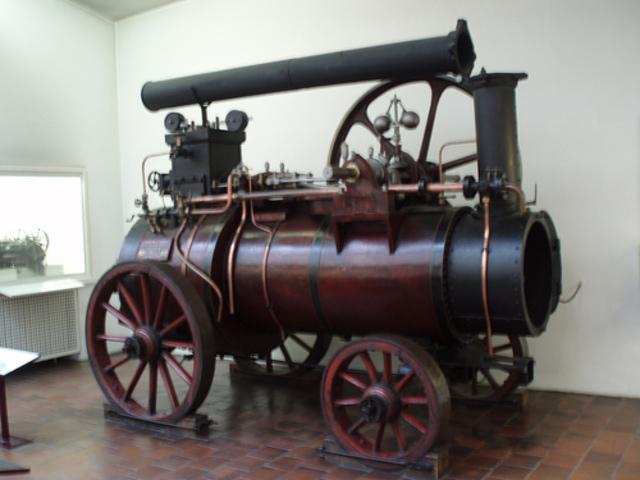 La máquina de vapor.