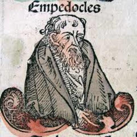 Empédocles y los cuatro elementos.