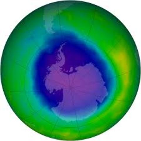 Clorofloruro e carbono en la capa de Ozono