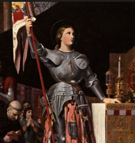 Joan of Arc leads French troops