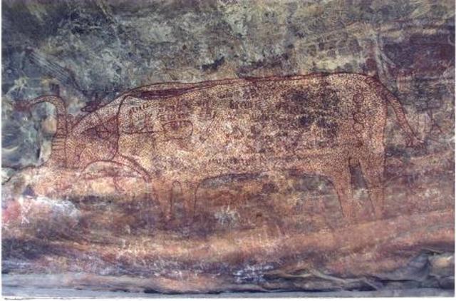 Bhimbetka.(2000 años atras )