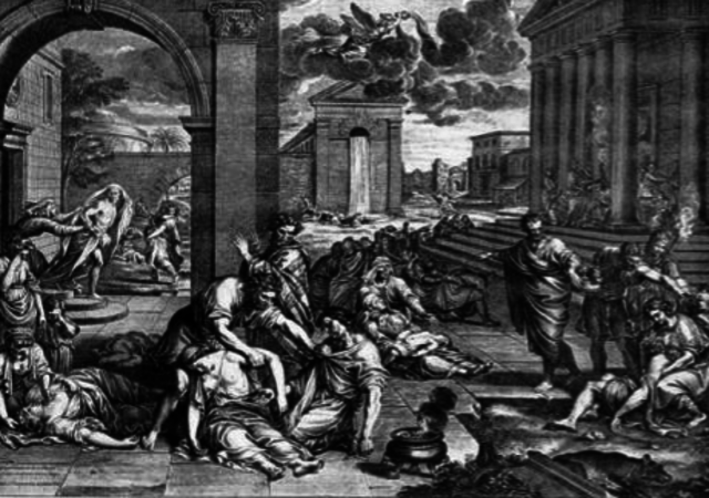 Bubonic plague reaches Europe