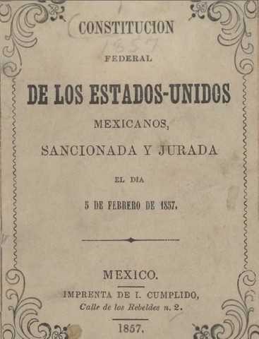 PROMULGACIÓN DE LA CONSTITUCION DE 1857