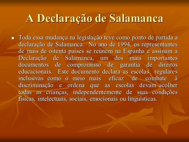 Assinada a Declaração de Salamanca