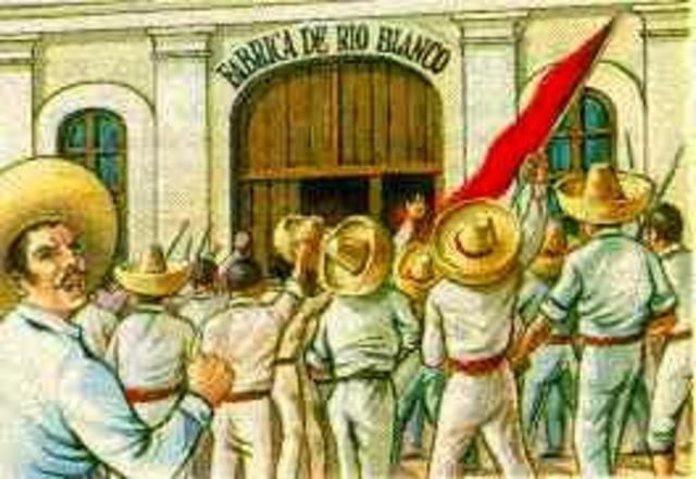 La Huelga de Cananea y la de los trabajadores textiles en Puebla