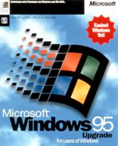 Windows 95- added 32 bit TCP/IP- INTERNET EXPLORER 1.0