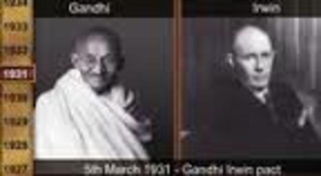 1930 - Pacto Gandhi-Irwin