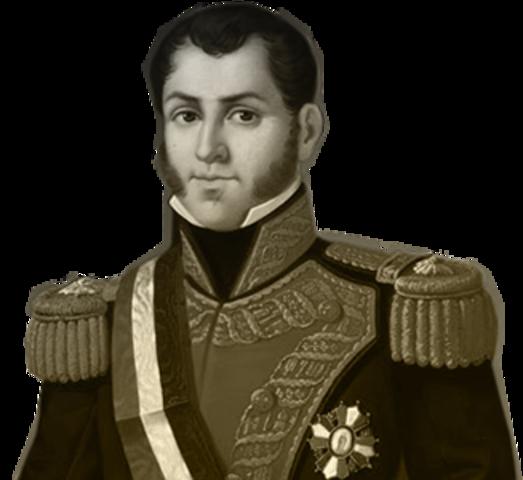 1821 Agustín de Iturbide visita el Colegio