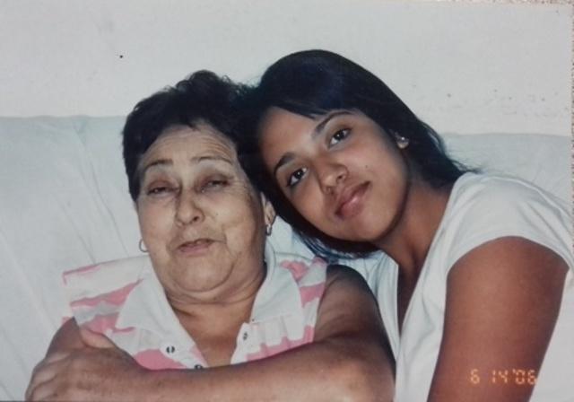 Mi abuelita y yo.
