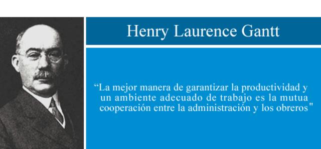 Henry Laurence Gantt- Diagrama de Gantt