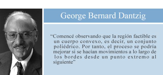 George Bernard Dantzig-El método Simplex de programación lineal