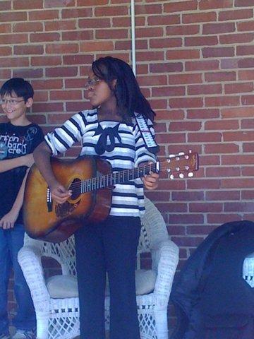 5th Grade Music Playing guitar