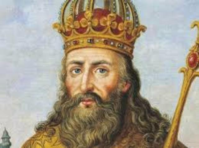 Charlemagne Crowned as Emperor