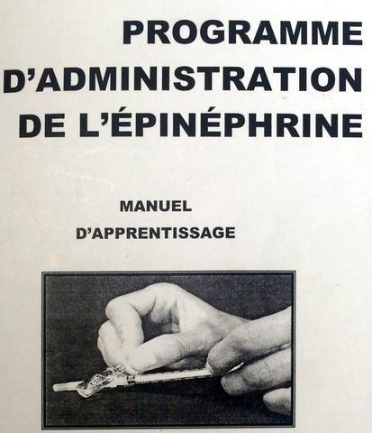 Début administration épinéphrine pour l'anaphylaxie