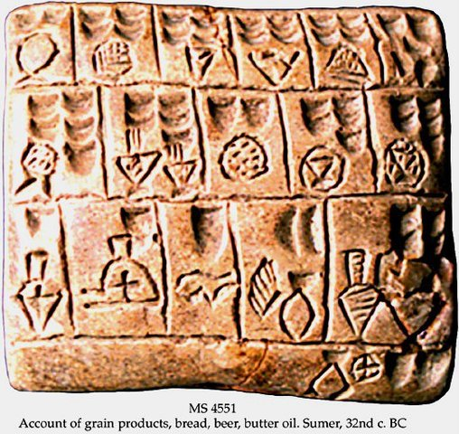 First Writing of Beer 2,700 BCE