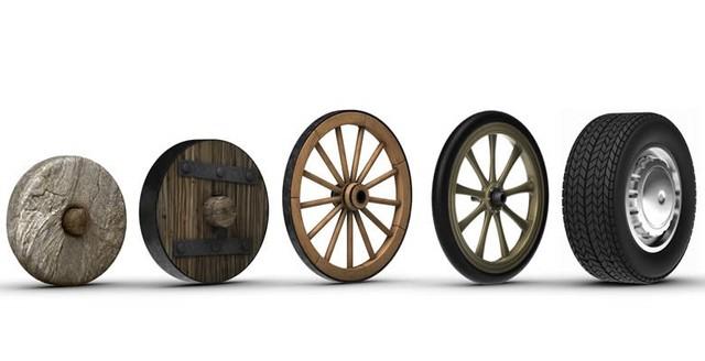 Invención de la rueda.