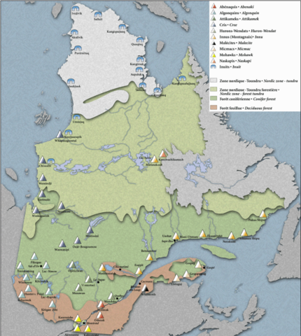 First Nations on the Quebec Land