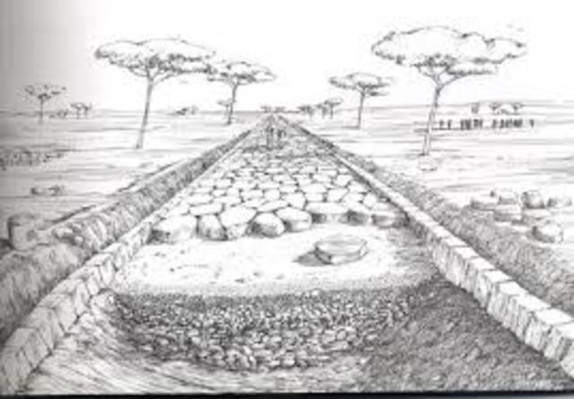 Inicios de la construcción de la vía Apia