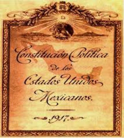 Principales legislaciones en materia agraria (Constitución de 1917)