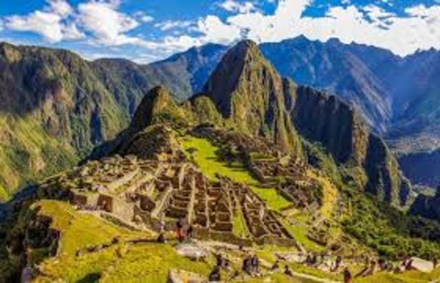 Construccion de Machu Picchu