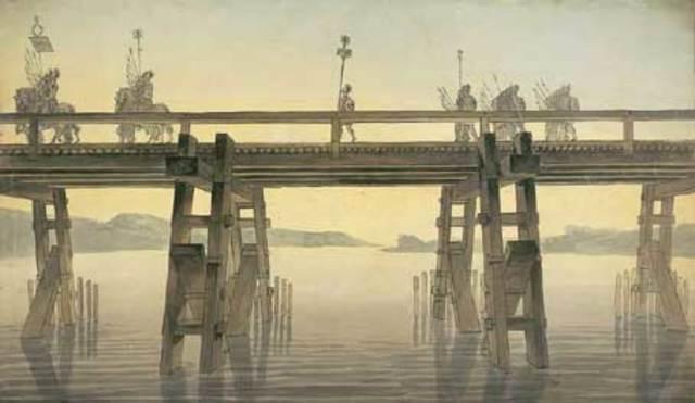 55 a.c.Puente sobre el Rio rin