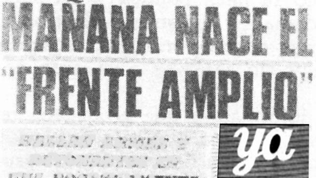Nace en Uruguay el Frente Amplio