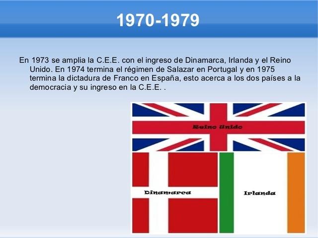 Reino Unido, Dinamarca e Irlanda ingresan en la CEE
