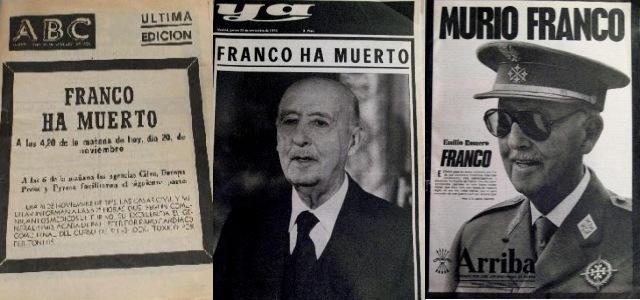 Fallece Francisco Franco; sucediéndole Juan Carlos I, rey de España