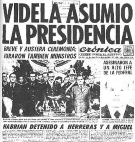 Se inicia el Proceso de Reorganización Nacional en Argentina