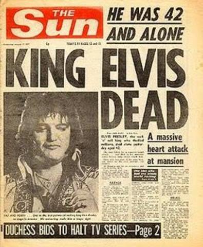 Fallece el cantante Elvis Presley
