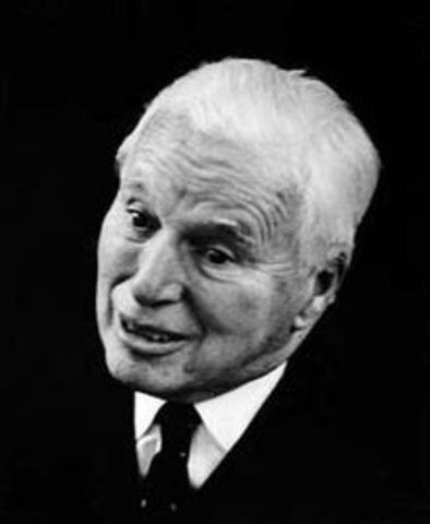 Fallece el comediante Charles Chaplin