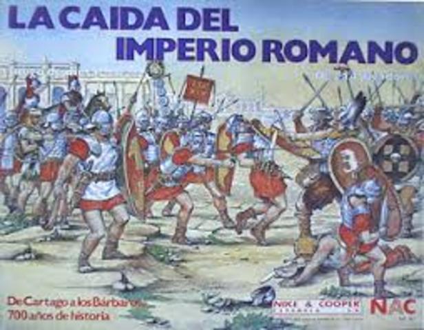 CAIDA DEL IMPERIO ROMANO POR FALTA DE EJÉRCITOS ENTRENADOS, DEFENSA MUY VULNERABLES Y TERRITORIO MUY EXTENSO PARA ADMINISTRARLO.