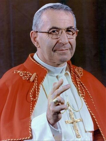 Juan Pablo I sucede a Pablo VI como Papa