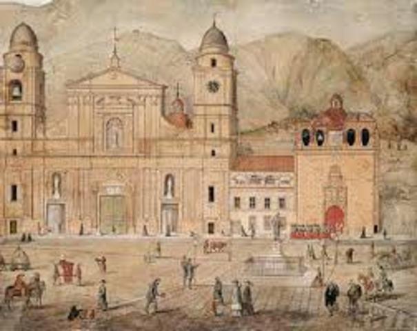 siglo XVIII Santa fe de Bogota