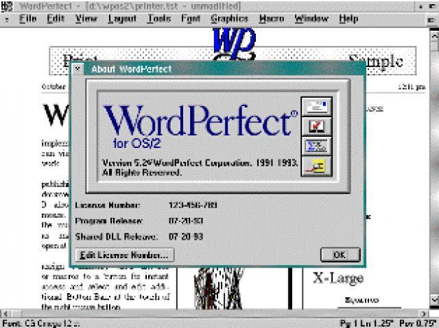 Aparición de procesadores de textos