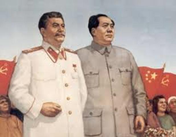 Union Sovietica y su alianza con China
