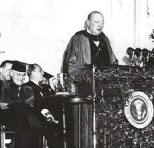 Discurso de Churchill en Estados Unidos
