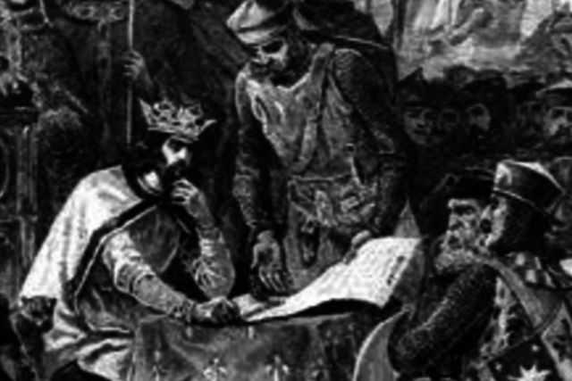 King John I seals Magna Carta