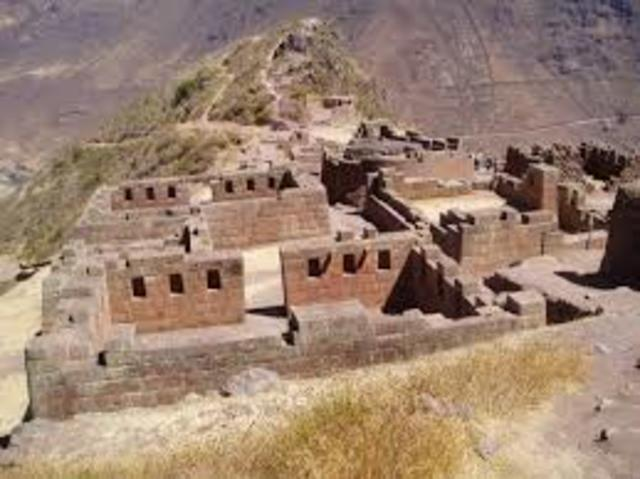 Temple platforms are built in Peru