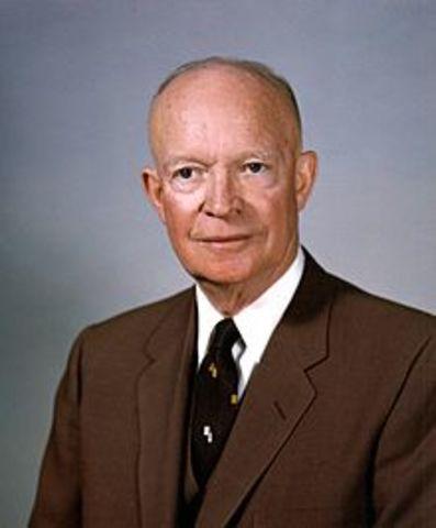 Eisenhower es presidente de Estados Unidos