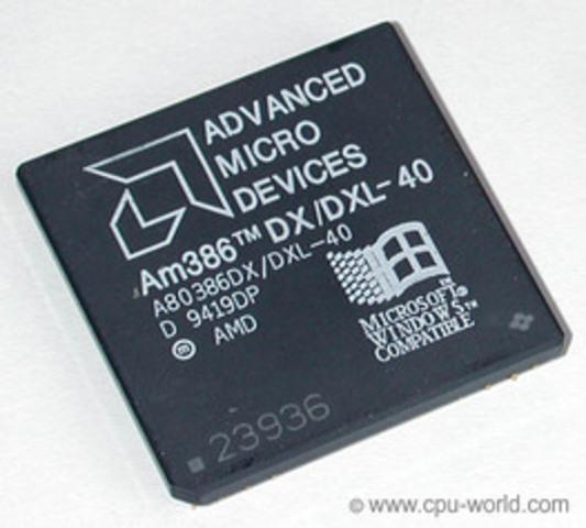 La primera Aparición de AMD.